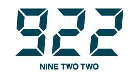 922 NINE TWO TWO